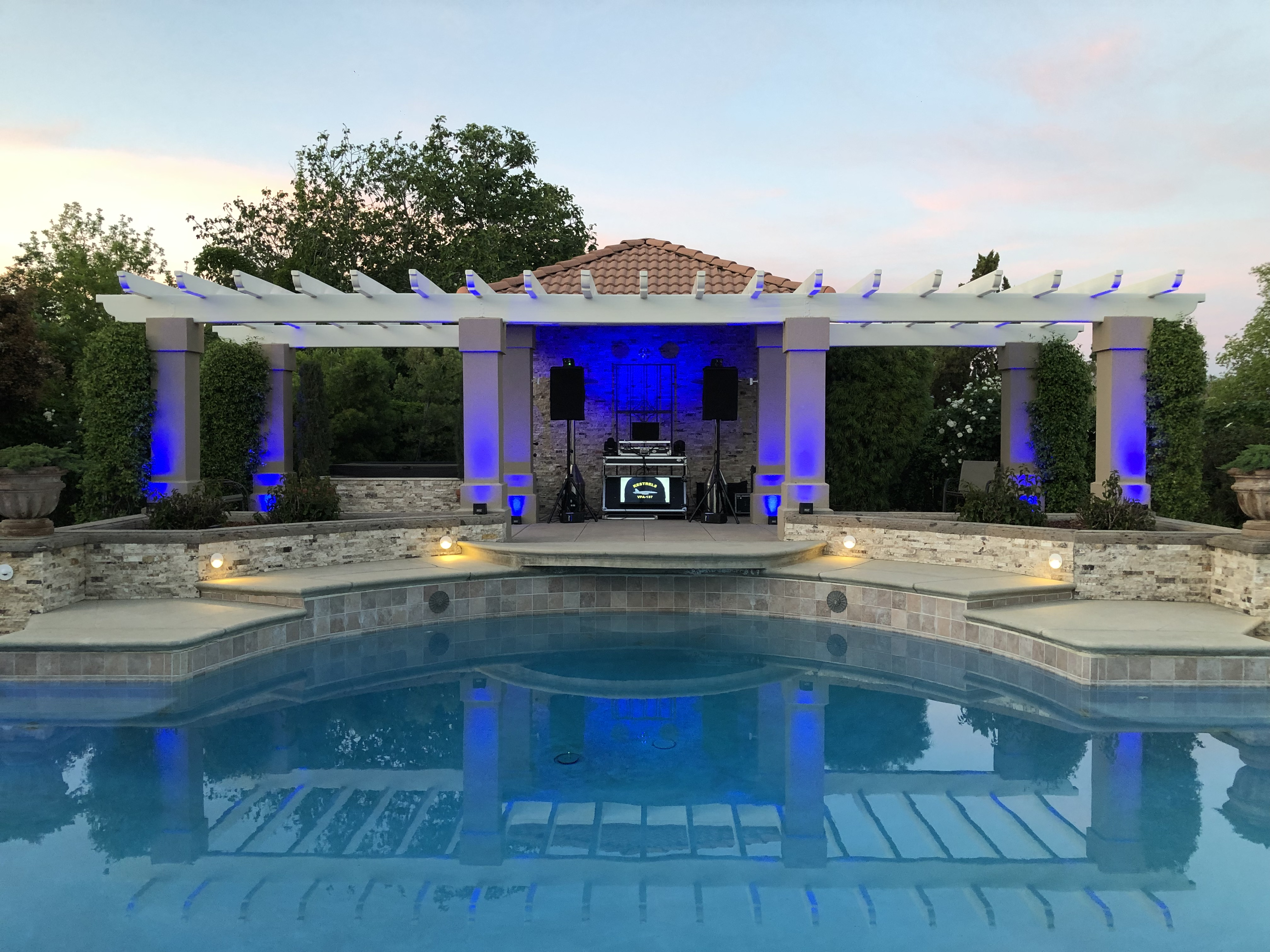 Dj Setup by Pool